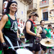 Stock Photo: PAMPLONA, SPAIN - JULY 9: Drummers are on street during of festi