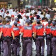 PAMPLONA, SPAIN-JULY 10: police on street during SFermin — Stock Photo #32669359
