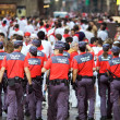 Stock Photo: PAMPLONA, SPAIN-JULY 10: police on street during SFermin