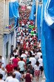 布尼奥尔,西班牙-8 月 28: 人群中等待,广管局的开始 — 图库照片