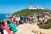 CAPE CABO DA ROCA, PORTUGAL - JULY 30: People are watching at re — Stock Photo
