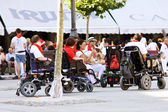PAMPLONA, SPAIN-JULY 8: People with disabilities at festival San — Stock Photo