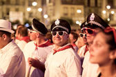 PAMPLONA, SPAIN - JULY 9: People in costumes having fun at a con — Stock Photo
