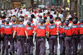 PAMPLONA, SPAIN-JULY 10: The police on street during San Fermin — Stock Photo
