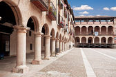The courtyard bishops Castle Siguenza. Castillo de los Obispos d — Stock Photo