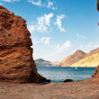 Rocky coast on Mediterranean Sea, province of Murcia, Spain — Stock Photo