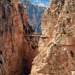 Royal Trail (El Caminito del Rey) in gorge Chorro, Malaga provin — Stock Photo #32670537