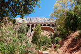 Railway bridge near Royal Trail (El Caminito del Rey) in gorge C — Zdjęcie stockowe