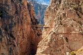 Royal Trail (El Caminito del Rey) in gorge Chorro, Malaga provin — Stock Photo
