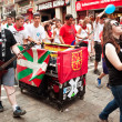 Stock Photo: PAMPLONA, SPAIN - JULY 10: Orchestron street at festival SF