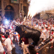 Stock Photo: PAMPLONA, SPAIN-JULY 13: Show for children at SFermin fes