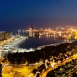 View over Malaga at night Andalusia Spain — Stock Photo
