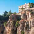 Hotel on edge of a cliff in Ronda, Malaga Province, Andalusia, S — Stock Photo