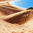 Stock Photo: Sand dune of Bolonia beach, province Cadiz, Andalucia, Spine
