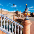 Ceramic fence in Plaza de Espana in Seville, Spain. — Stock Photo