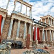 Ruins of Roman amphitheater, Merida, Spain — Stock Photo