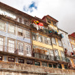 Facades of typical houses in old town, Porto, Portugal — Stock Photo
