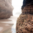 Stock Photo: Beach of cathedrals, Galicia, Spain