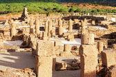 "Ruins Roman of ""Baelo Claudia"" in ""Bolonia"" beach, province Cad — Foto Stock"