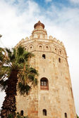 Torre del Oro (Gold Tower). in Sevilla, Spain — Stock Photo