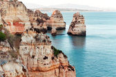 Coastal cliffs (Ponta da Piedade), Lagos, Portugal — Stock Photo