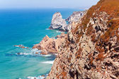 Coastal cliffs at cape Roca (Cabo da Roca) Sintra, Portugal — Stock Photo