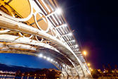 Bridge of Triana in Sevilla at night, Spain — Stock Photo