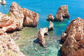 Coastal cliffs (Ponta da Piedade), Lagos, Portugal — Stock Photo