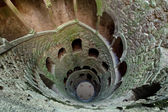 Masonic initiation well in Quinta da Regaleira, Sintra, Portugal — Stock Photo