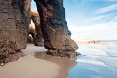 Beach of cathedrals, Galicia, Spain — Stock fotografie