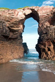 Beach of cathedrals, Galicia, Spain — Foto Stock