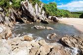 Beach Gulpiyuri, Asturias, Spain — Photo
