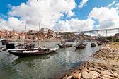 Rabelo σκαφών στο πόρτο, πορτογαλία — Φωτογραφία Αρχείου