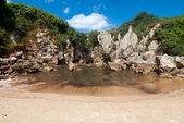 Beach Gulpiyuri, Asturias, Spain — Stock Photo