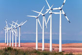 Windmills for electric power production — Stockfoto