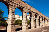 Roman aqueduct in Segovia city, Spain — Stock Photo