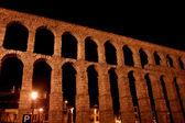 Roman aqueduct in Segovia city, Spain — Foto Stock