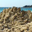 Destroyed sandcastle — Stock Photo