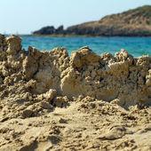 Destroyed sandcastle — Stock Photo