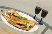 Fried pike perch — Stock Photo