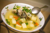 Russian fish soup — Stock Photo
