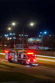 Fire truck at night — Stock Photo