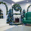Christmas living room — Foto Stock