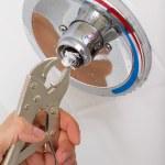Broken Shower faucet — Stock Photo #16213513