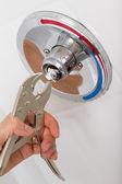 Broken Shower faucet — Stock Photo