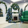 Christmas living room - Foto Stock
