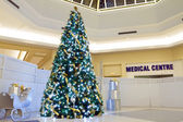 Christmas tree and medical centre — Stock Photo