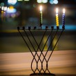 Hanukkah candles — Stockfoto