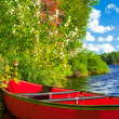 Red canoe — Stock Photo #17589159