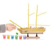 Model sailing ship — Stock Photo